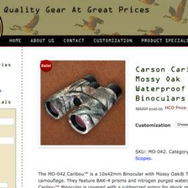Specialty Item Wholesaler Website